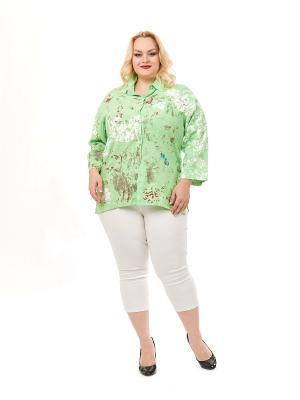 Блузка ELEGANZA. Цвет: салатовый