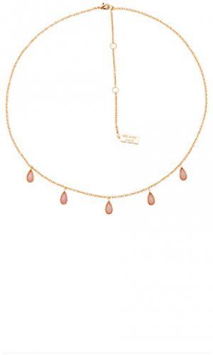 Stone drop necklace Melanie Auld. Цвет: металлический золотой