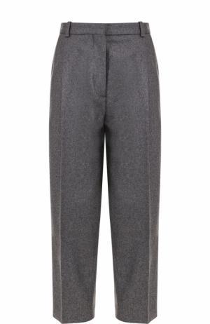 Укороченные брюки с защипами и стрелками Acne Studios. Цвет: серый