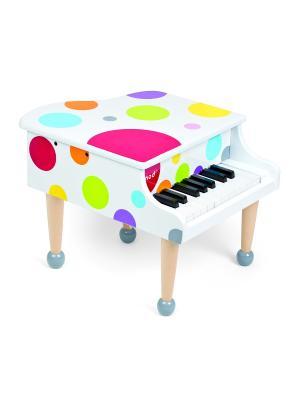 Детский Рояль, музыкальный инструмент Janod. Цвет: красный