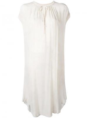 Платье с необработанными краями Raquel Allegra. Цвет: телесный