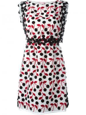 Платье с принтом Giamba. Цвет: белый