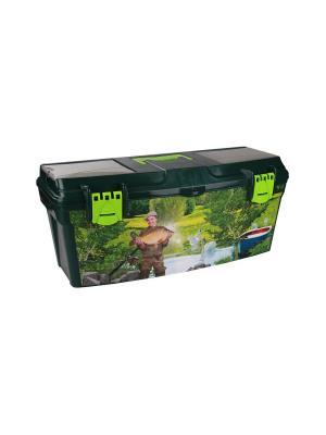 Ящик рыболовный Богатый улов Альтернатива. Цвет: темно-зеленый