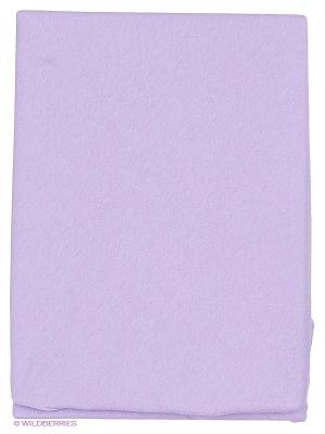 Простынь на резинке Kupu. Цвет: сиреневый