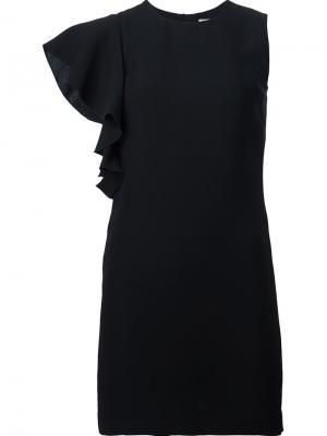 Платье с оборкой Elizabeth And James. Цвет: чёрный