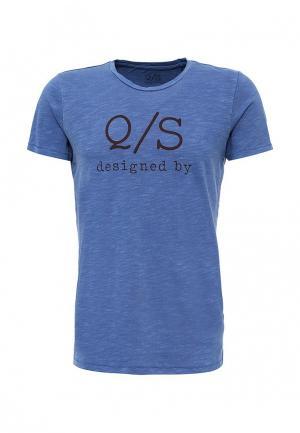 Футболка Q/S designed by. Цвет: синий