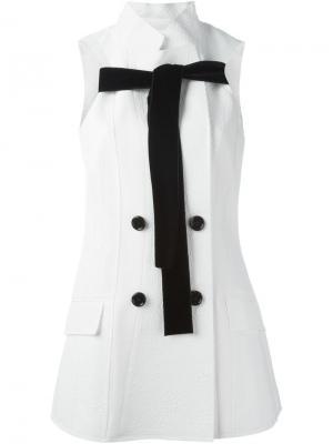 Двубортный пиджак с бантом Proenza Schouler. Цвет: белый