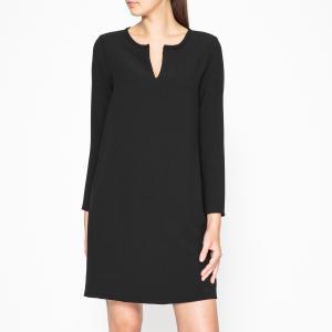 Платье прямое ROCKER HARTFORD. Цвет: черный