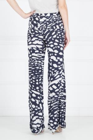 Шелковые брюки с принтом Thakoon. Цвет: синий
