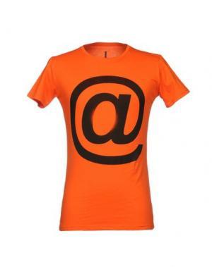 Футболка 1° GENITO. Цвет: оранжевый