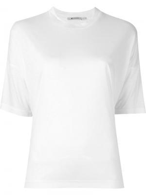 Классическая футболка T By Alexander Wang. Цвет: белый