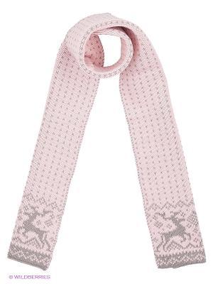 Шарф Scandica. Цвет: розовый, светло-серый