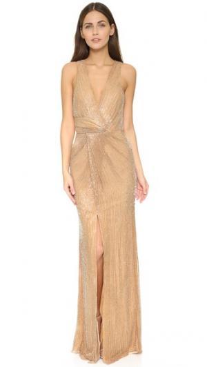 Вечернее платье Monarch Parker. Цвет: розовый
