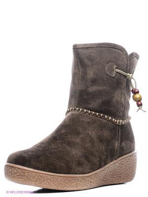 Ботинки Shoiberg. Цвет: темно-коричневый, серый, бронзовый