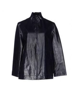 Верхняя одежда из кожи MARIELLA BURANI. Цвет: стальной серый