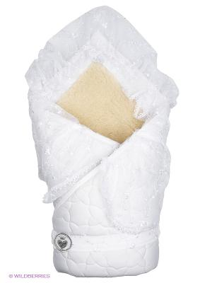 Одеяло-конверт Зимушка Сонный гномик. Цвет: белый