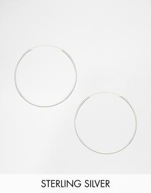 Kingsley Ryan Серебряные серьги‑кольца 35 мм. Цвет: серебряный