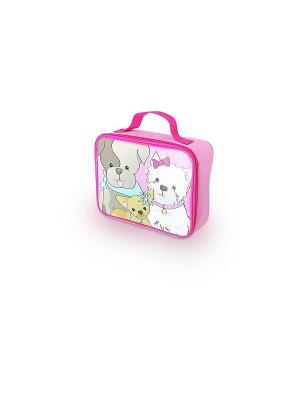 Детская сумка-термос Puppy Days Soft Kit Thermos. Цвет: розовый