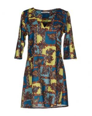 Короткое платье 100X200 CENTOXDUECENTO. Цвет: цвет морской волны