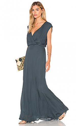 Вечернее платье venice Rory Beca. Цвет: темно-зеленый