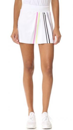 Теннисная юбка со складкой спереди Monreal London. Цвет: белый