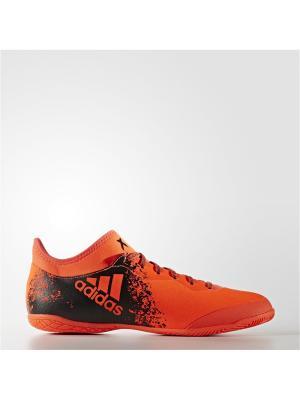 Футбольные бутсы (для зала) муж. X 16.3 Court Adidas. Цвет: красный