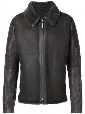 Куртка с подкладкой из овечьей шерсти Isaac Sellam Experience. Цвет: коричневый