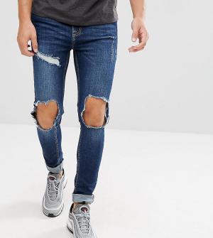 Brooklyn Supply Co. Обтягивающие рваные джинсы Co. Цвет: синий