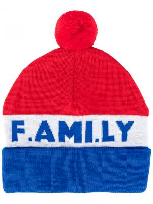 Трикотажная шапка F.AMI.LY Ami Alexandre Mattiussi. Цвет: синий