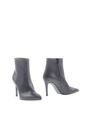Полусапоги и высокие ботинки JEREMY-HO. Цвет: серый