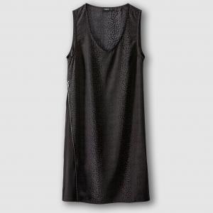 Платье без рукавов на молнии, REENA SCHOOL RAG. Цвет: темно-серый