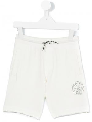 Спортивные шорты с логотипом Diesel Kids. Цвет: белый