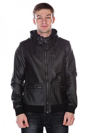 Куртка кожаная  Wallace Wax Black Krew. Цвет: черный