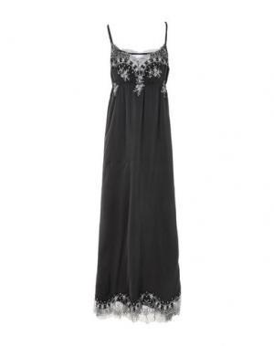 Длинное платье PINK MEMORIES. Цвет: черный