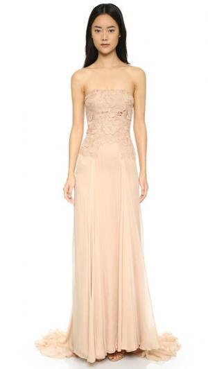 Платье Ellen с кружевным лифом Catherine Deane. Цвет: оранжевый