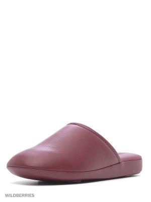 Тапочки Pansy. Цвет: темно-бордовый