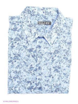Рубашка IFC. Цвет: голубой