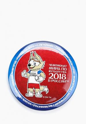 Значок 2018 FIFA World Cup Russia™. Цвет: красный