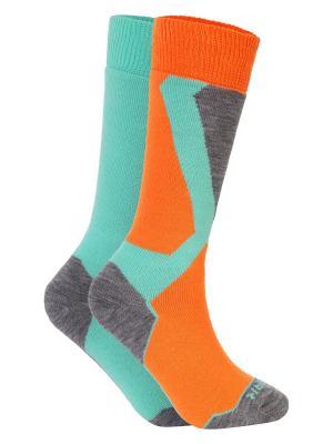 Носки Icepeak. Цвет: персиковый, бирюзовый