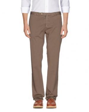 Повседневные брюки LUIGI BORRELLI NAPOLI. Цвет: хаки