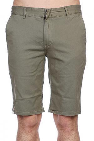 Классические мужские шорты  Davis Slim Short Olive Altamont. Цвет: серый,зеленый