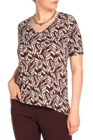 Блуза COUTURE LINE. Цвет: коричневый