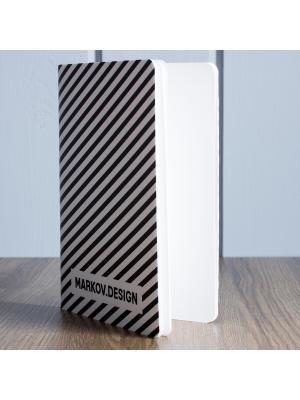 Скетчбук Полоска MARKOV.DESIGN. Цвет: черный, белый