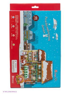 Пазл Рождественский домик 4 CubicFun. Цвет: белый, зеленый, молочный