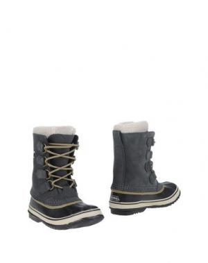 Полусапоги и высокие ботинки SOREL. Цвет: стальной серый