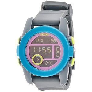Часы  Unit 40 Charcoal/Navy/Purple Nixon. Цвет: серый,голубой