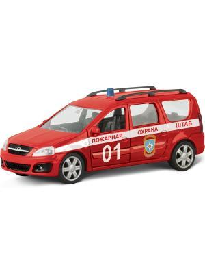 Машина LADA LARGUS пожарная охрана AUTOTIME. Цвет: красный