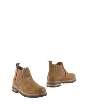 Полусапоги и высокие ботинки GIONATA. Цвет: песочный