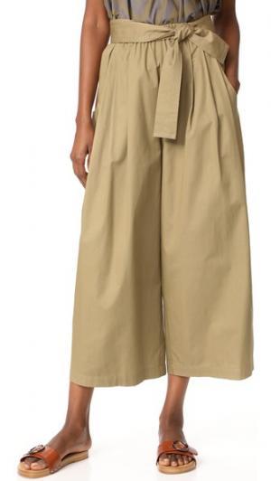 Хлопковые брюки Drill Karate Tome. Цвет: хаки