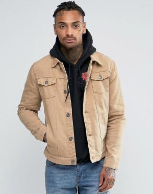 Liquor N Poker Светло-коричневая джинсовая куртка. Цвет: коричневый